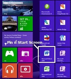 Tiles และการ Pin ที่ Start Screen