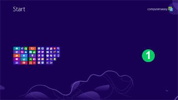 การย่อขนาดจอของ Start Screen ด้วยการกดปุ่ม Ctrl -