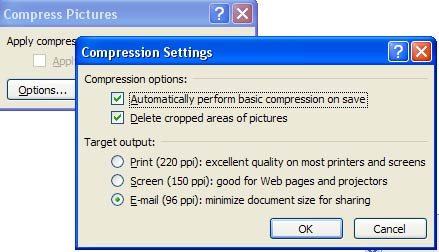 Compress PowerPoint