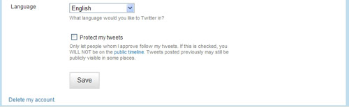 how to delete my twitter account from my iphone