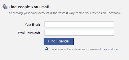 Find People You Email Facebook