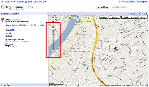 Google Map Result Page