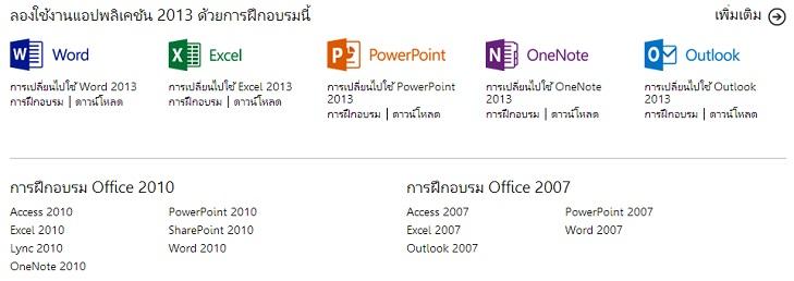 คู่มือการใช้งาน Microsoft Office 2010