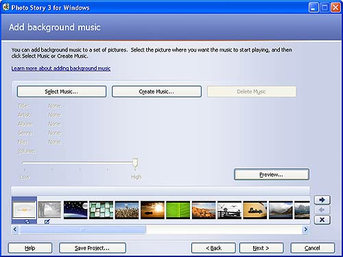 Photo Story Add Background Music