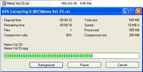 Unzip File RAR File Type