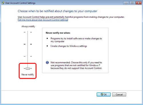 User Account Control Windows 7