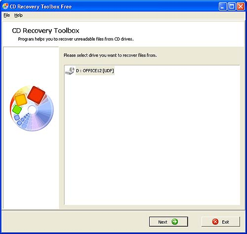 CD DVD Recovery Tool
